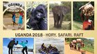Uganda 2018 - hory, safari, raft