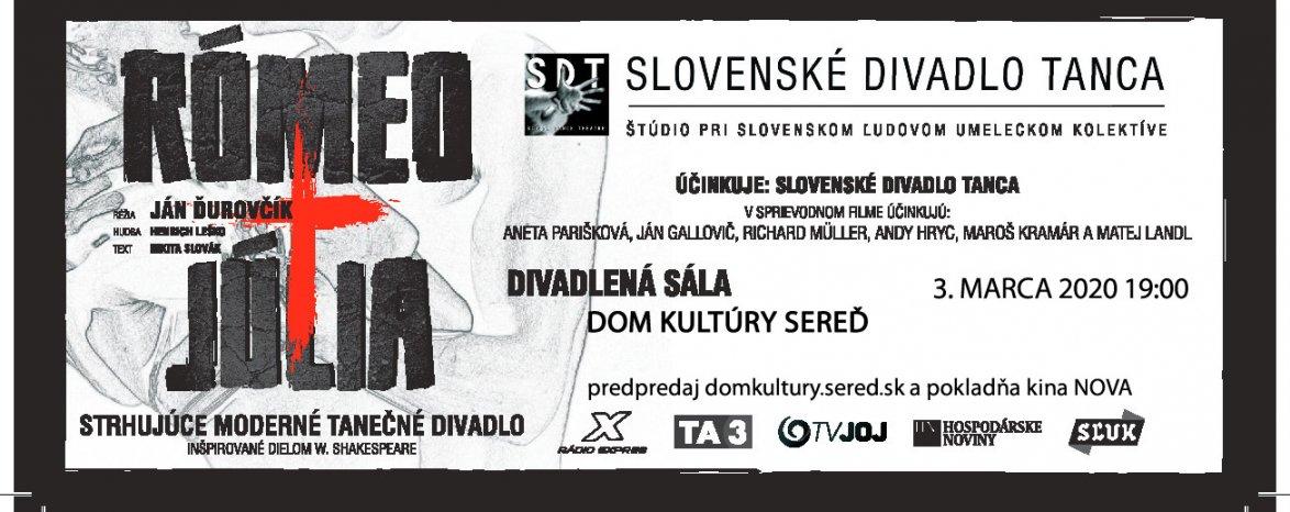 RÓMEO A JÚLIA – Slovenské divadlo Tanca