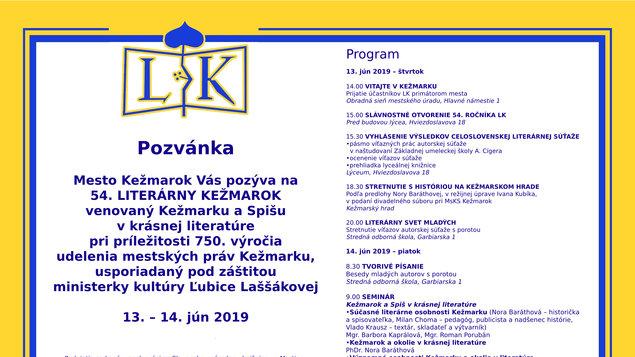 Literárny Kežmarok 2019 - vyhodnotenie