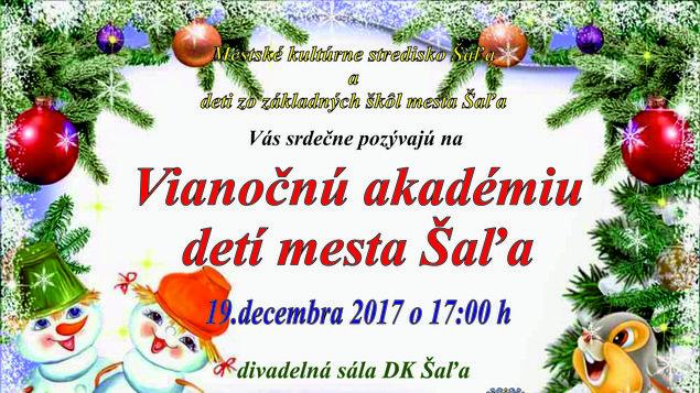 Vianočná akadémia detí mesta Šaľa 2017