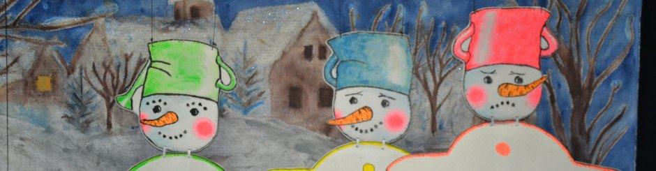 Jak pejsek s kočičkou stavěli sněhuláka