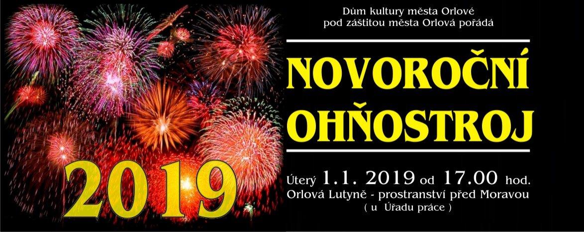 Novoroční ohňostroj 2019