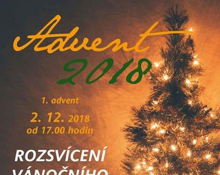 1. advent 2018 - rozsvícení vánočního stromu