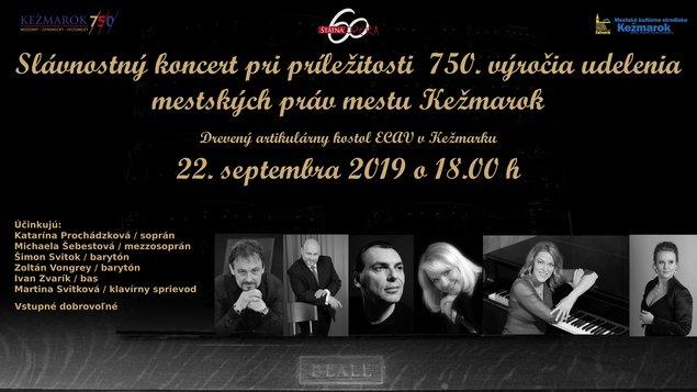 Slávnostný koncert pri príležitosti  750. výročia udelenia mestských práv mestu Kežmarok