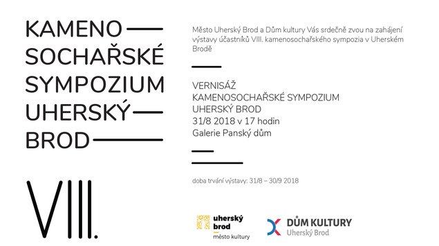 Výstava účastníků VIII. kamenosochařského sympozia v Uherském Brodě