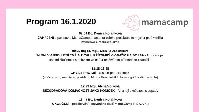 Mama camp - 16.1.2020
