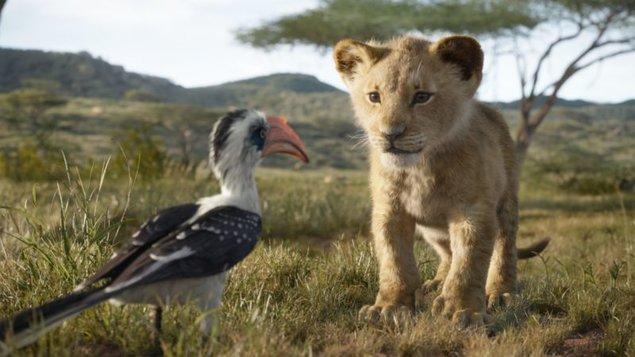 Dětská jízda s filmem Lví král