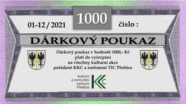Dárkové poukazy KKC 2021