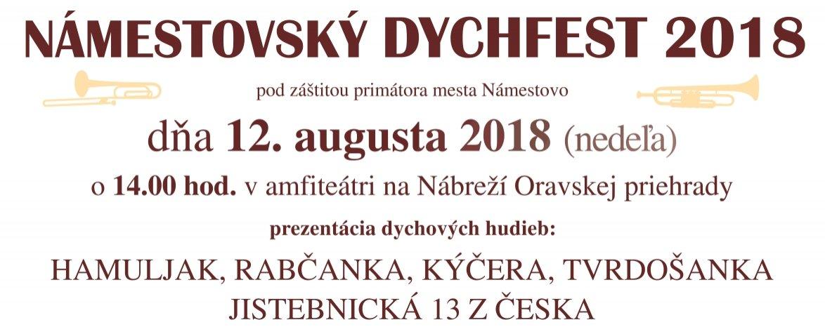 NÁMESTOVSKÝ DYCHFEST 2018