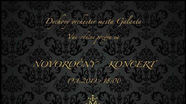 Novoročný koncert Dychového orchestra  Mesta Galanta