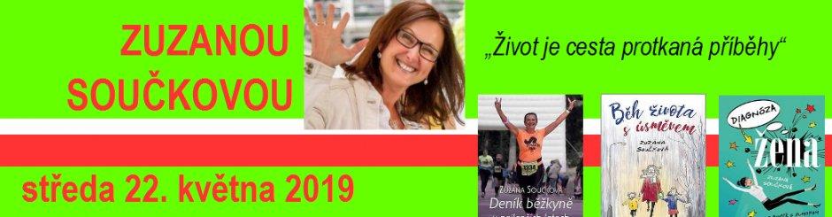 Beseda se spisovatelkou Zuzanou Součkovou středa 22. 5. v 17.00 hodin