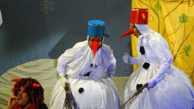 Dva sněhuláci o Vánocích