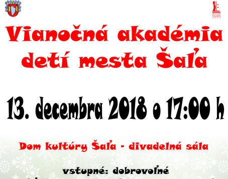 578677612 Vianočná akadémia detí mesta Šaľa 2018 – program a vstupenky online ...