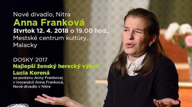 NOVÉ DIVADLO NITRA: ANNA FRANKOVÁ