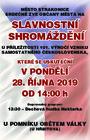 Slavnostní shromáždění u příležitosti oslav 101. výročí vzniku samostatného Československa