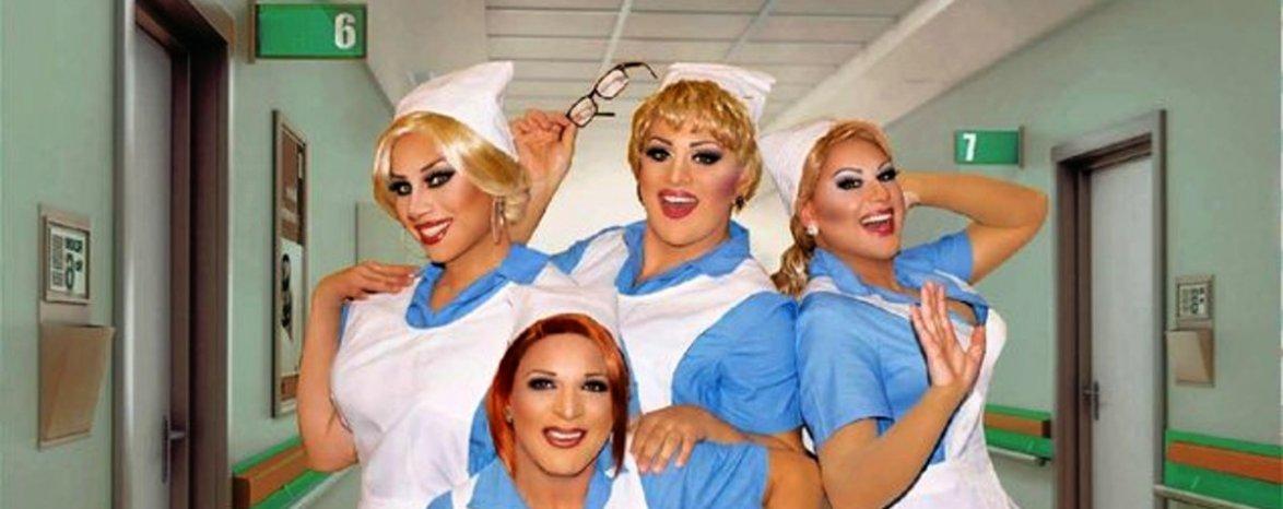 """Travesti show Techtle Mechtle a Kočky """"Nemocnice na pokraji zkázy"""""""