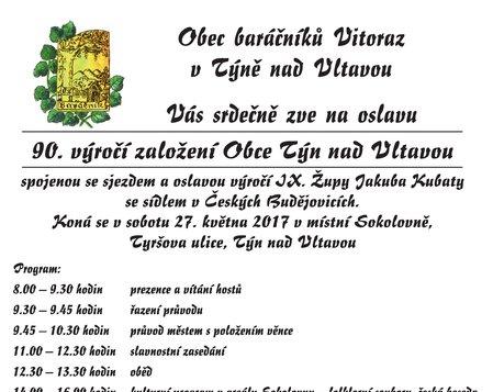 90. výročí založení Obce baráčníků