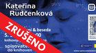 Spisovatelé do knihoven: Kateřina Rudčenková ZRUŠENO!