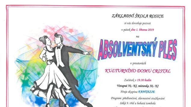 Absolventský ples ZŠ Rosice