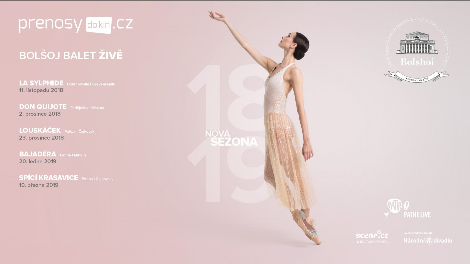 Bolšoj balet 2018/2019 - předplatné