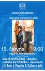 JULIE SVĚCENÁ (HOUSLE) A LADISLAV HORÁK (AKORDEON) - koncert