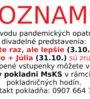 Oznam - zmena