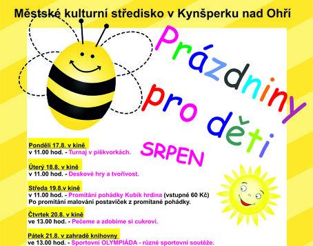 Prázdninové akce pro děti v srpnu