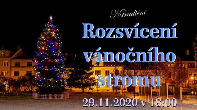 1. advent 2020 - Rozsvícení vánočního stromečku