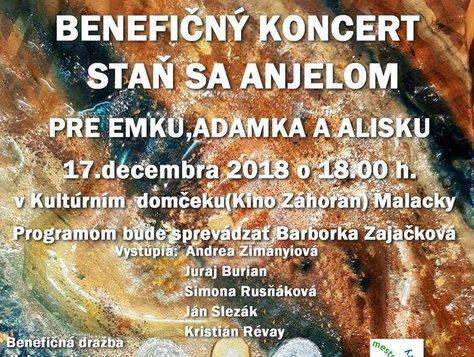 benefičný koncert STAŇ SA ANJELOM