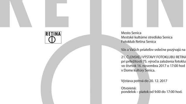 21. Členská výstava fotoklubu Retina Senica