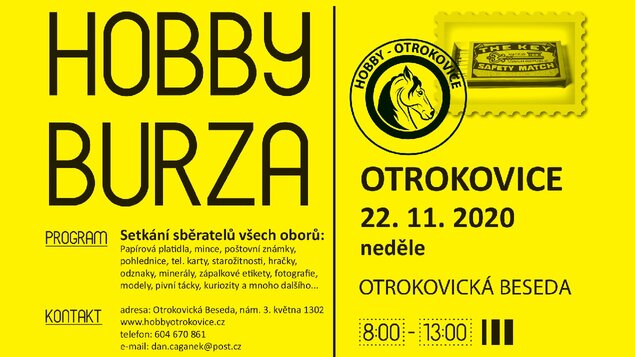 Hobby burza * 22. 11. 2020