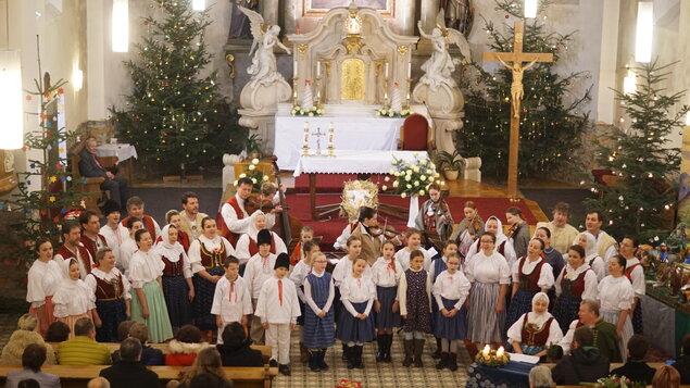 Vánoční program souboru Mezříčan