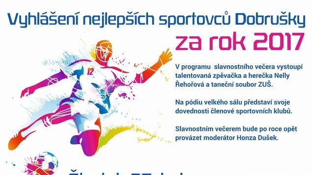 Vyhlášení nejlepších sportovců Dobrušky za rok 2017