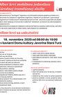 Odber krvi mobilnou jednotkou Národnej transfúznej stanice - NOVEMBER 2020