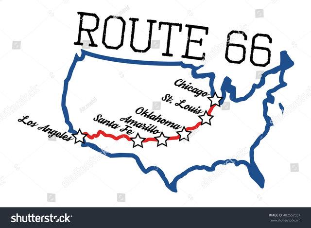 Route 66 na kole