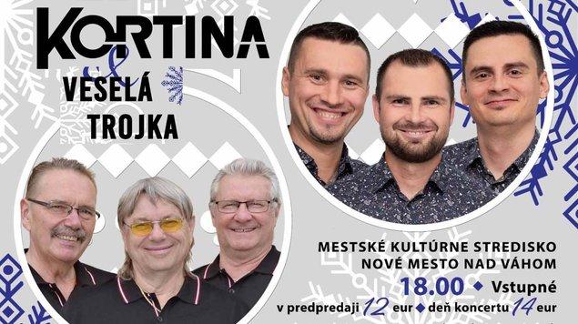 3.12.2019 Vianočný koncert: Kortina & Veselá trojka