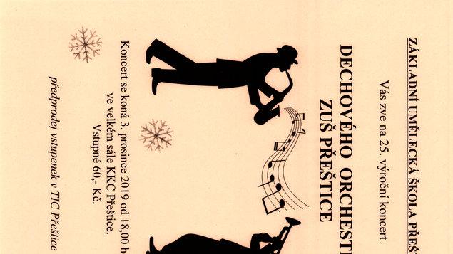25. výroční koncert Dechového orchestru ZUŠ Přeštice