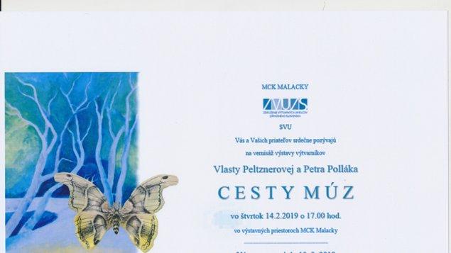 Vlasta Peltznerová, Peter Pollák: CESTY MÚZ (vernisáž výstavy)