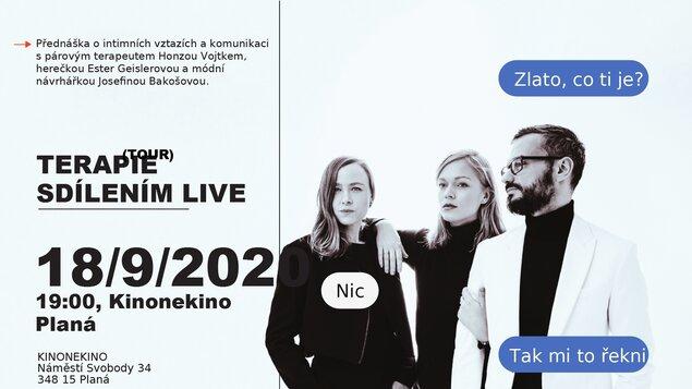 Terapie Sdílením Live TOUR 2020 - 18. září 19:00