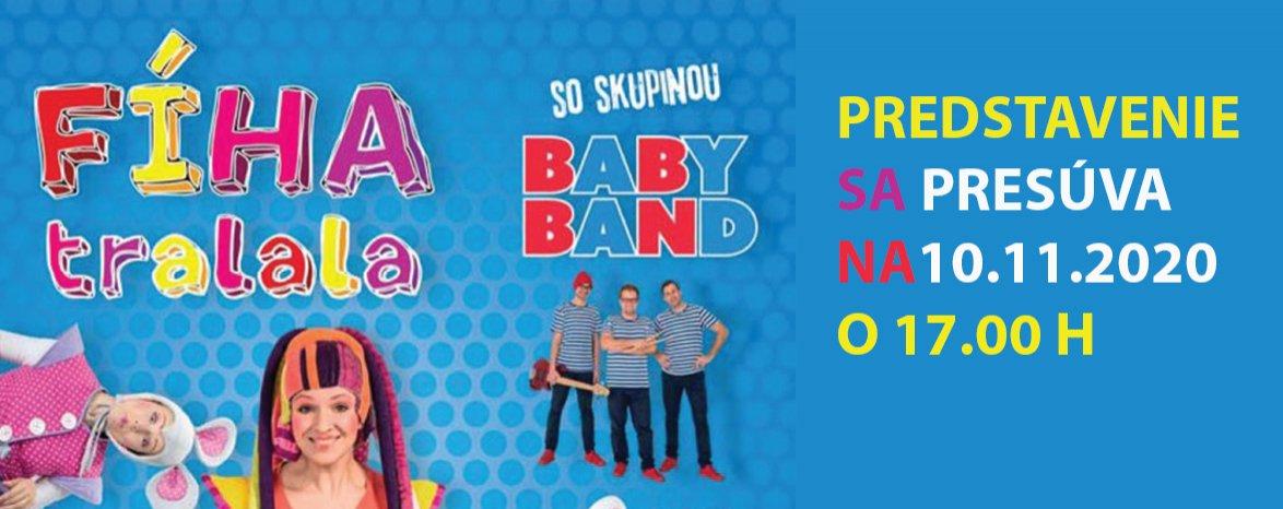 FÍHA tralala so skupinou BABY BAND - turné 2020