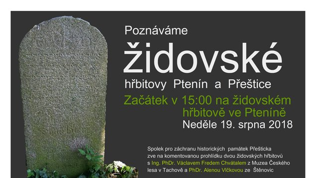 Poznáváme židovské hřbitovy Ptenín a Přeštice