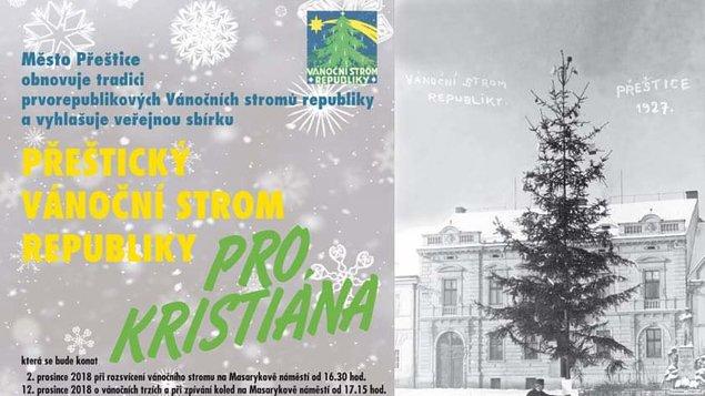 Přeštický Vánoční strom republiky - pro Kristiána