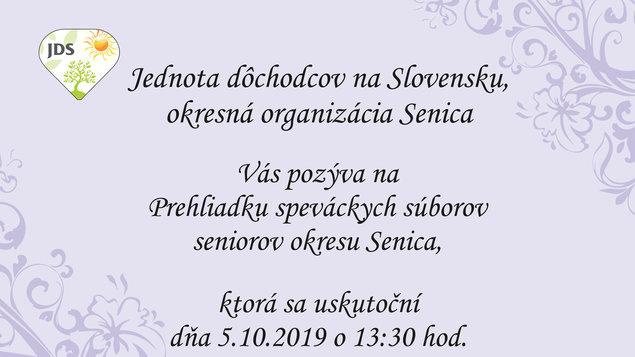 Prehliadka speváckych súborov seniorov okresu Senica