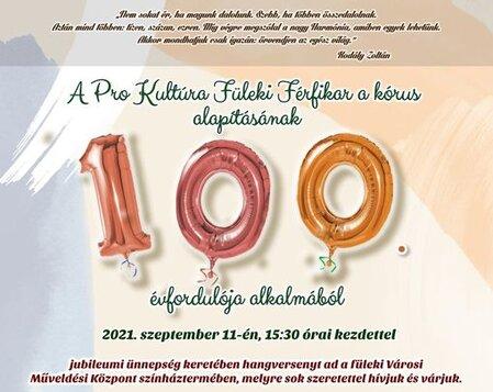 Mužský spevácky zbor vo Fiľakove má 100 rokov – jubilejný program