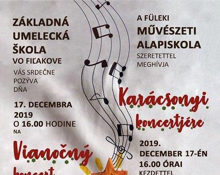 Vianočný koncert ZUŠ pre žiakov ZŠ