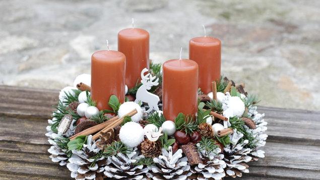 Ukázky vánočního aranžování