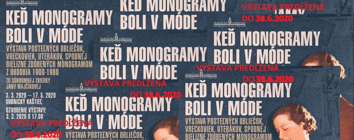 Keď monogramy boli v móde