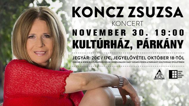 Koncz Zsuzsa koncert 30.11.2017