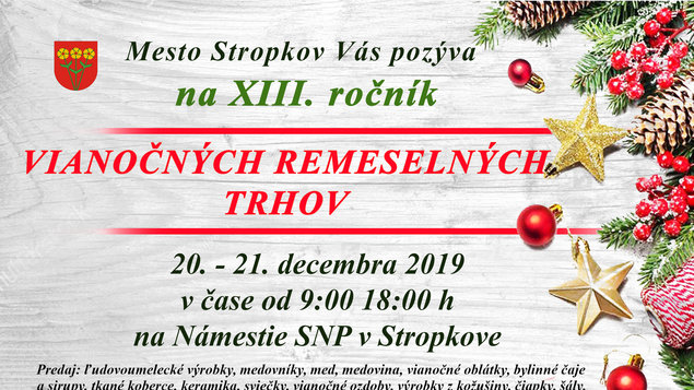Vianočné remeselné trhy 2019