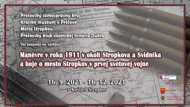 Manévre v roku 1911 v okolí Stropkova a Svidníka a boje o mesto Stropkov v prvej svetovej vojne